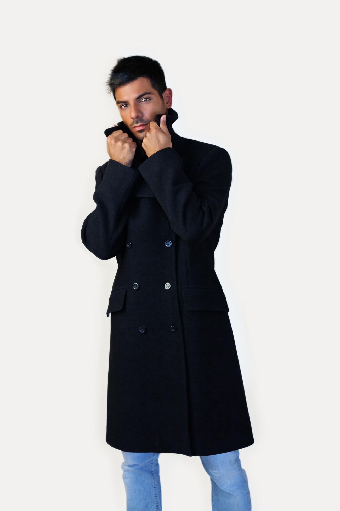Cappotto doppiopetto uomo su misura